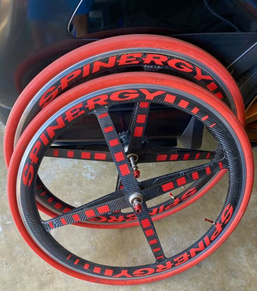 Spinergy Racing Carbon Wheelset 700C Clincher with Tires and Skewers $650.00