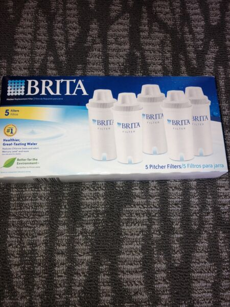 New Sealed 5 Brita Pitcher Replacement Water Filters Model OB03 5 Filters Pk