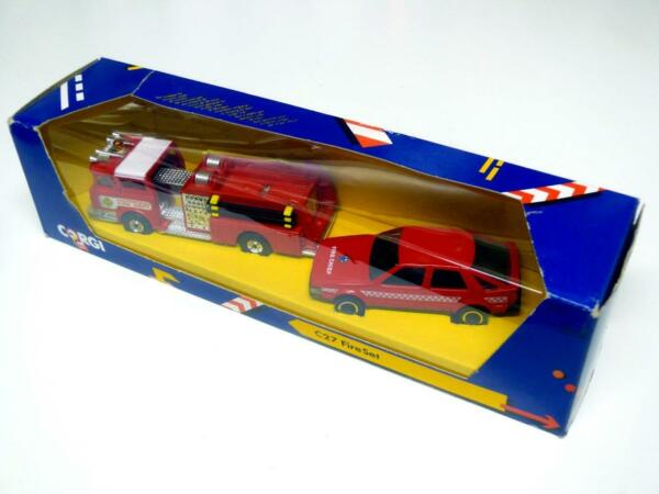 Corgi C27 Fire Set Mack Fire Engine amp; Saab 9000 Boxed
