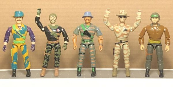Lanard Corps Lot Of 5 Vintage Military Action Figures