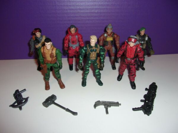 Lot of 7 Lanard 3.75quot; Military Figures 1 18 w Weapons THE CORPS gi joe FREE S H