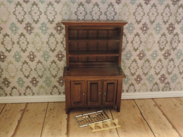 Classics Dollhouse Furniture for Kitchen China Cabinet Cupboard Walnut  #1066 $18.30