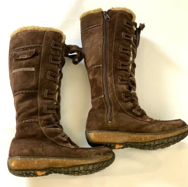 Timberland Women#x27;s Earthkeepers Granby Tall Waterproof Brown Suede Boots Sz 6.5M $49.95