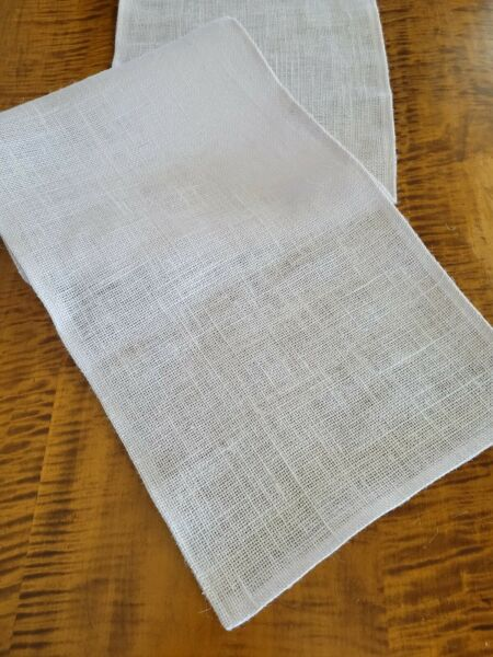 White Natural Burlap Table Runner with Folded Edges UNLINED Various Sizes