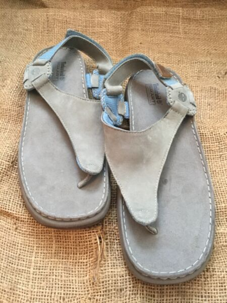 Timberland Sandals Smart Comfort System Gray Leather Women#x27;s Size 11M $22.50