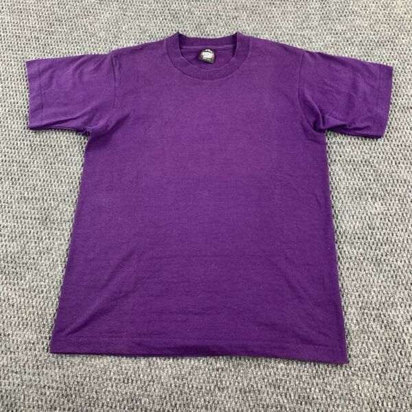 Vintage Screen Stars Best Blank 50 50 T Shirt Purple MADE USA Fits Adult Small