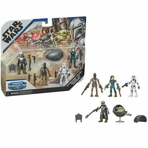 Star Wars Mission Fleet Defend the Child Mandalorian Action Figure Set *IN STOCK