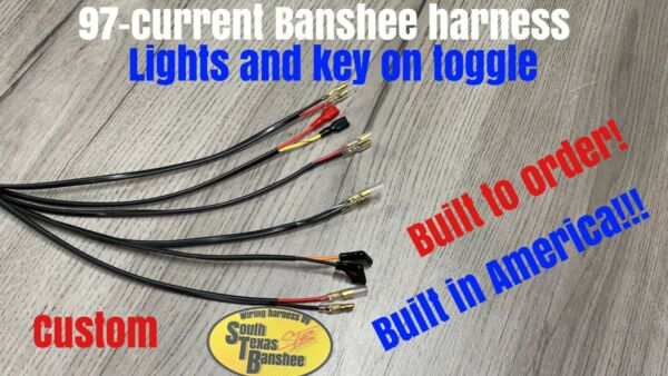 STB 97 current Yamaha Banshee Wiring harness lights and key on toggle switch $100.00