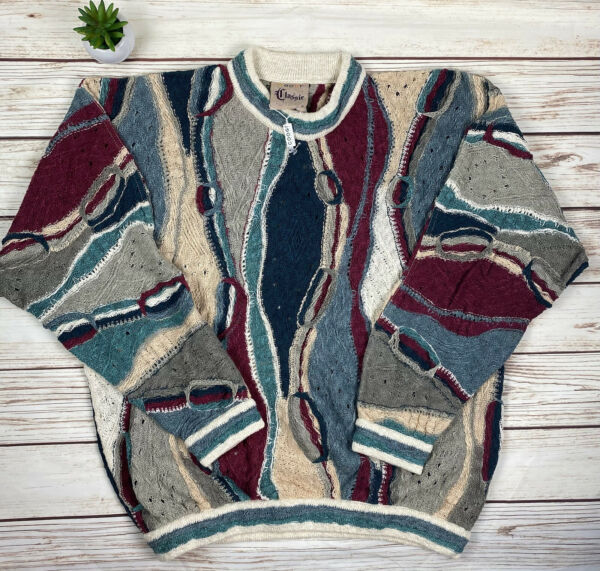 Vintage 90's COOGI Australia Cosby Biggie Sweater Authentic Deadstock Size Med $379.00