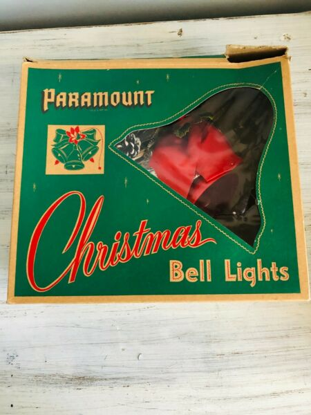 Vintage 1950s Paramount Christmas Bell Lights In Original Box WORKS $28.00