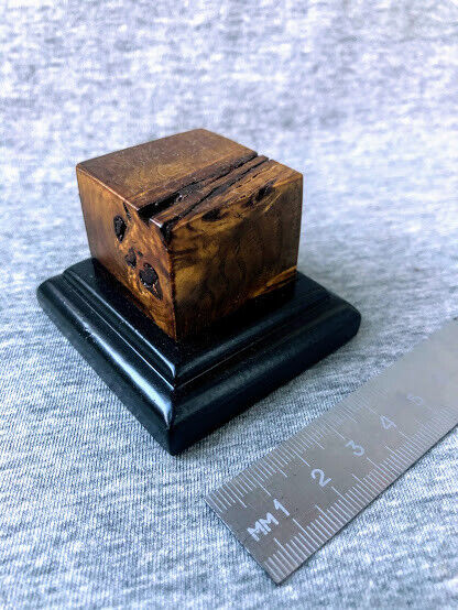 Wood cap is varnished Base for Models stand for Miniatures Soldier 60x56X40 mm $25.00