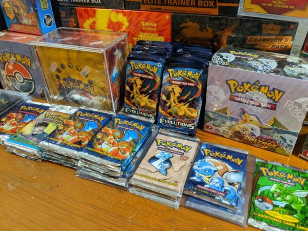 Pokemon Mystery Box Guaranteed Evolutions Pack 1 3 have a sealed Vintage pack