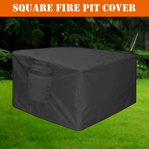36 inch Square Fire Pit Cover Garden Backyard Deck Bowl Fireplace Storage GHS36