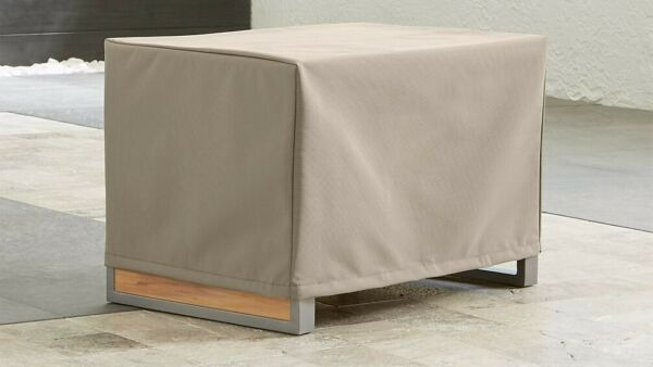 Outdoor Rectangular Side Table Cover Crate and Barrel 26.25 x 18.75 x 15.5 $19.99