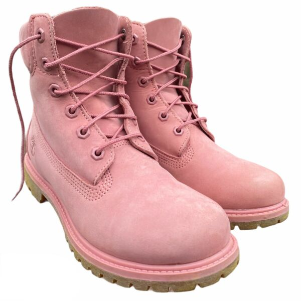 Timberland Boots Women's Pink Suede Leather Size 8.5 $60.00