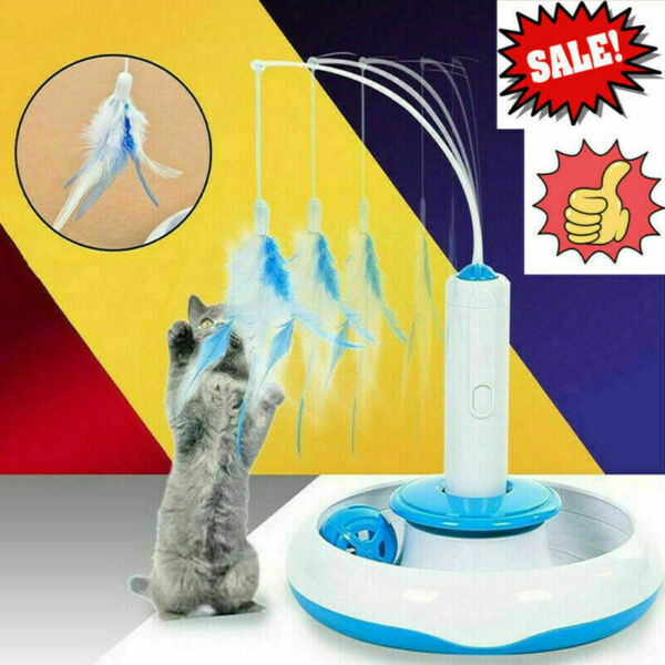 Pet Cat Feather Toy Feather Rotating Accessories For Electric Turntable Y9V2 $1.47