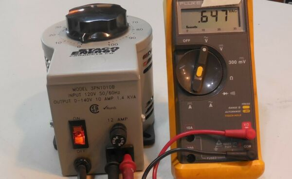 STACO VARIABLE TRANSFORMER # 3PN1010B EXCELLENT CONDITION FREE SHIPPING