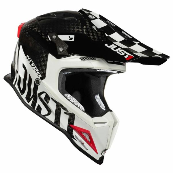 JUST1 J12 Pro Racer White Carbon Gloss S Small $429.99