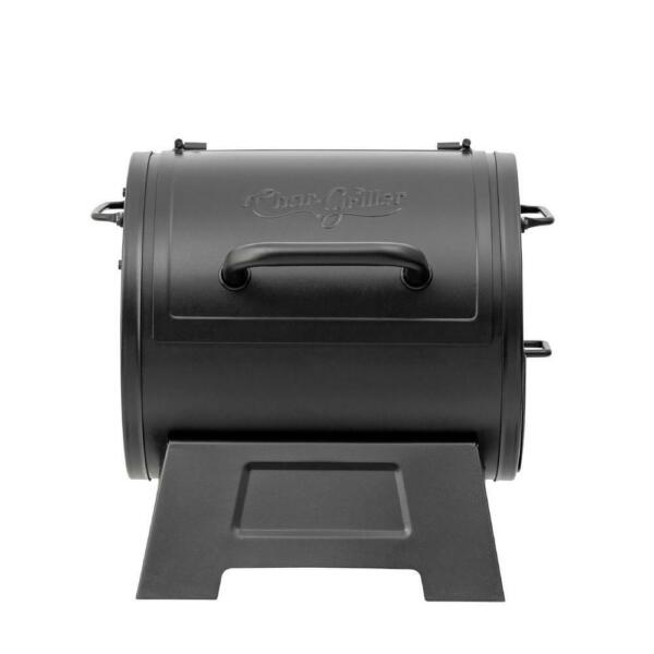 Portable Charcoal Grill Side Fire Box Outdoor Cooking Heavy Duty Home Cook Black