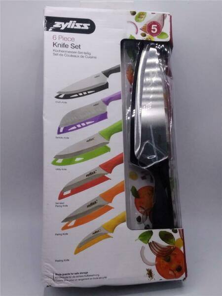 ZYLISS 6 Piece Kitchen Knife Set with Sheath Covers Stainless Steel