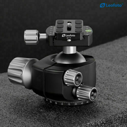 Open Box Leofoto LH 55 Ball Head Tripod Head with Plate for RRS ARCA