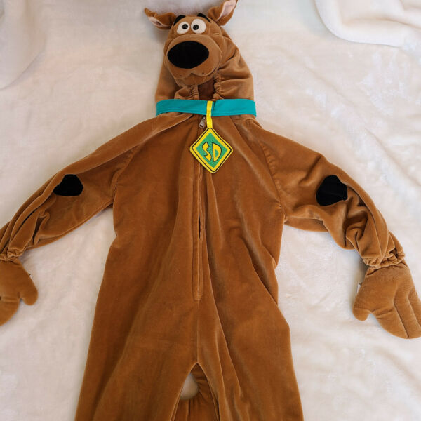 Deluxe Scooby Doo Child Costume Brown Dog Cartoon Girls Boys Toddler Kid