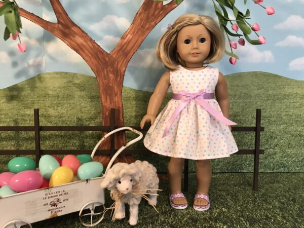 American Girl fitting Easter dress 18 inch doll clothes