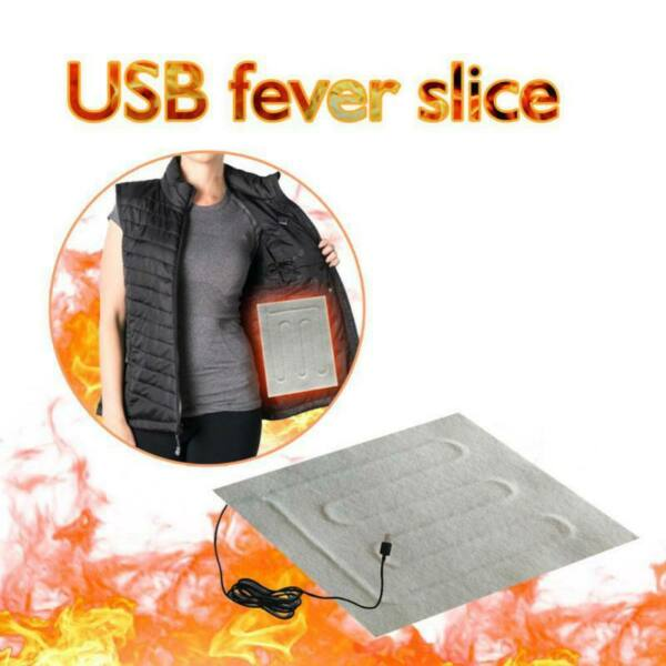 5V USB Electric Heating Pads Vest Jacket Clothes Heater Pad Warmer Pad Winter $6.99
