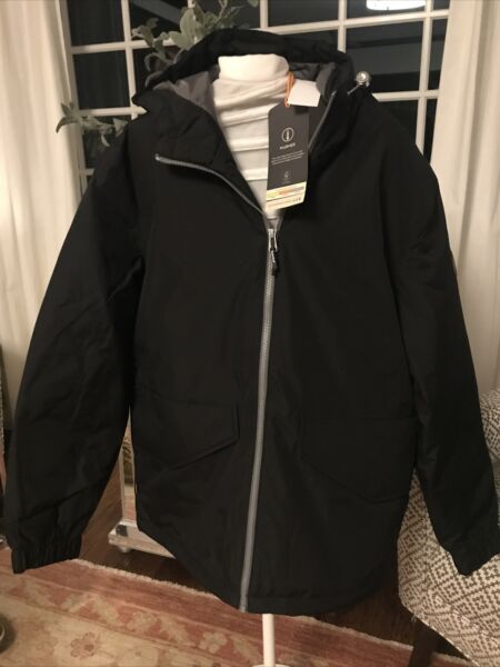 *NWT* Timberland Hooded Waterproof Zip Up Jacket Size Large Black $99.00