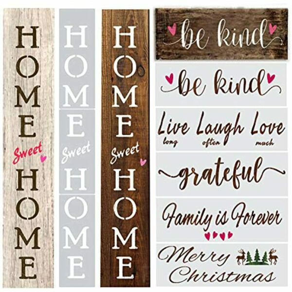 Vertical Home Sweet Stencils For Signs Large Letter Painting On Wood Reusable $17.89