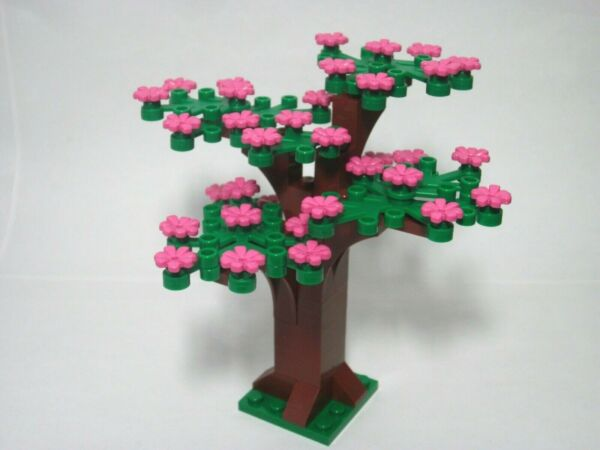 Custom tree for LEGO with Spring pink flowers all new parts FREE shipping