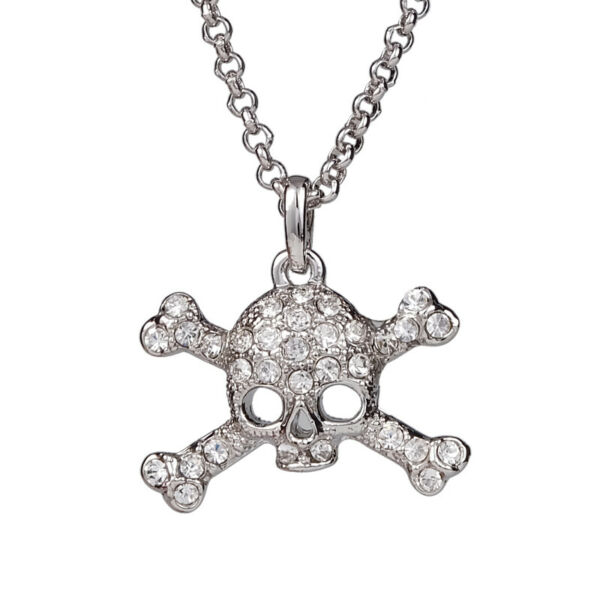 Vivienne Westwood Small Skull Silver Necklace With Packing $35.99