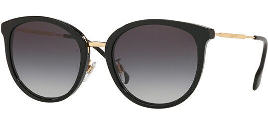 Burberry Women#x27;s Black Rounded Cat Eye Sunglasses BE4289D 30018G 56 Italy $89.99
