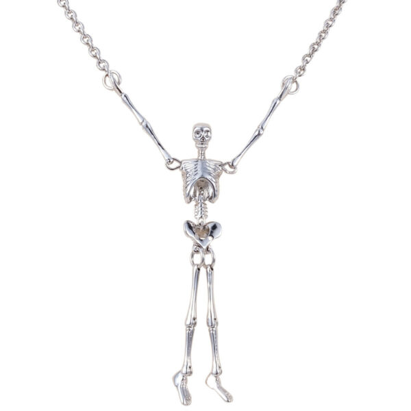 Vivienne Westwood Joint Skull Silver Necklace With packing $45.99