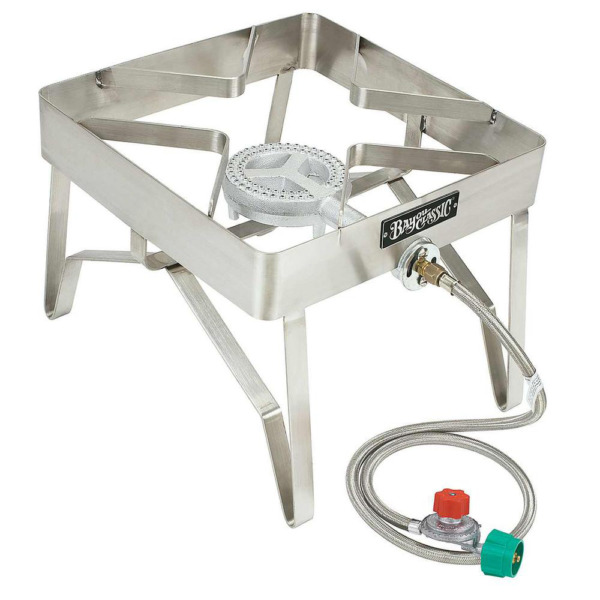 Bayou Classic Outdoor Patio Stove Stainless Steel Cast Iron Burner Fry Cooking $131.99