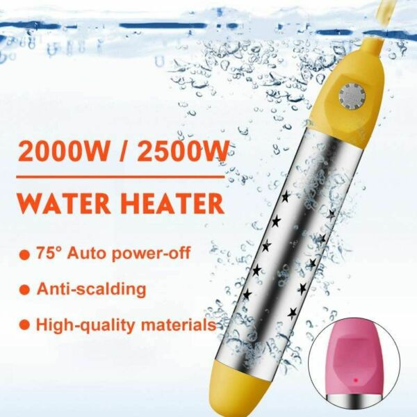 Water Heater Floating Boiler Water Heating Portable Immersion Heater 2000W 2500W $22.99