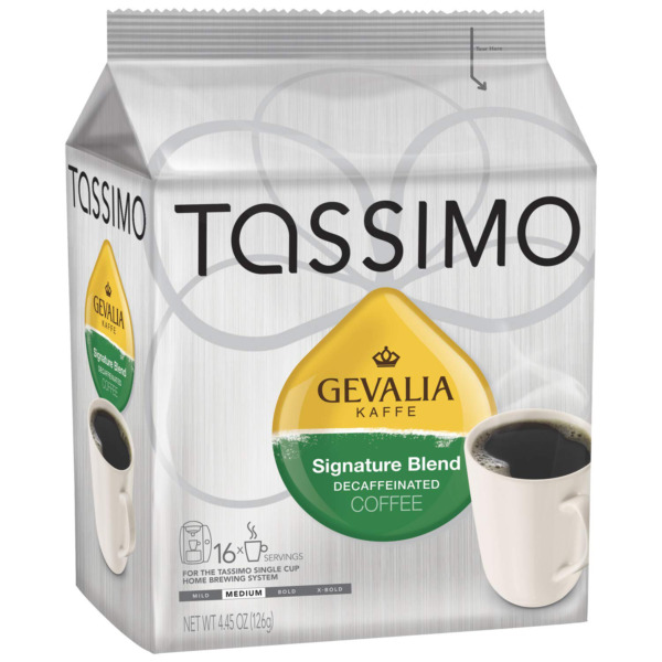 Gevalia Signature Blend Decaf Coffee Medium Roast T Discs for Tassimo Brewing