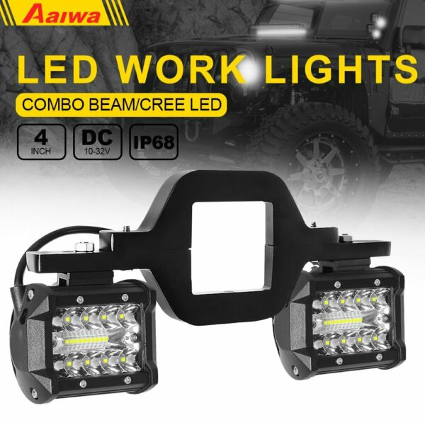 Tow Hitch Mount Bracket 4quot; LED Work Light Pods Driving Backup Reverse Car Truck $31.99