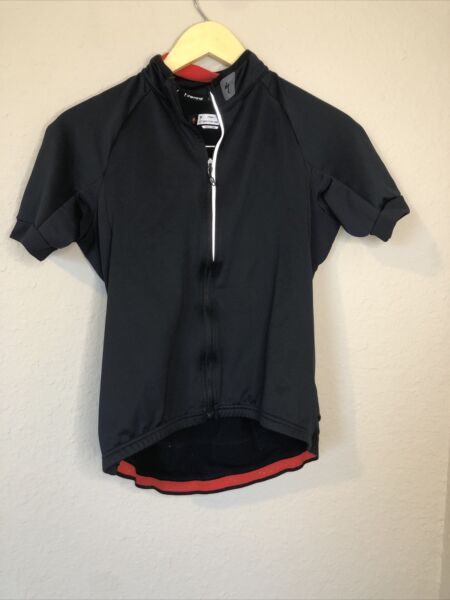 Specialized bike Jersey Women's M Black Form Fit Therminal Full Zip Reflective $30.00