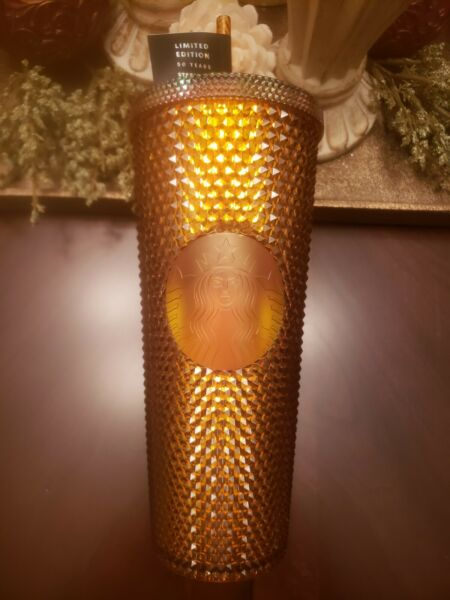Starbucks 50th Anniversary Copper Bling 2021 Limited Edition Studded Cup 24oz