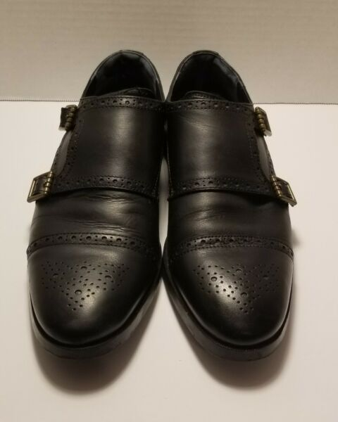 Cole Haan Men#x27;s Jefferson Grand Double Monk Strap Oxford Black Style 26166 9.5 $25.99