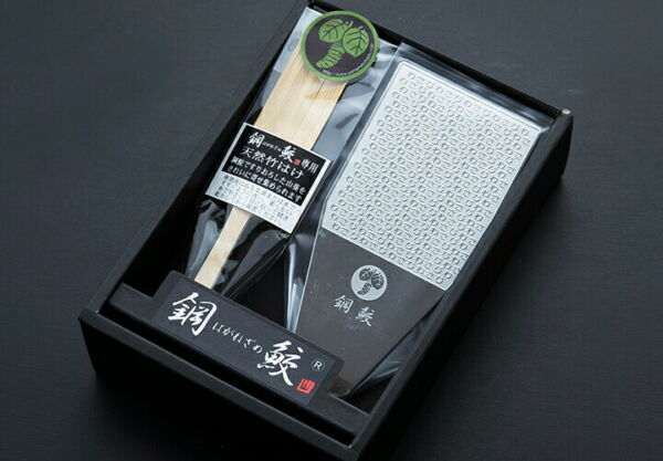 NEW WASABI Stainless Grater Haganezame mini Wasabi Letters Design Made in Japan