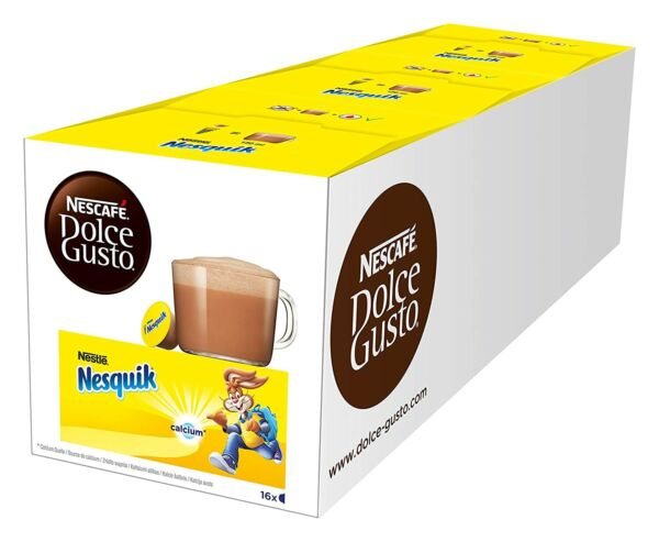 Nescafé Dolce Gusto Nesquik 16 Capsules Pack of 3 BEST BEFORE 03 31