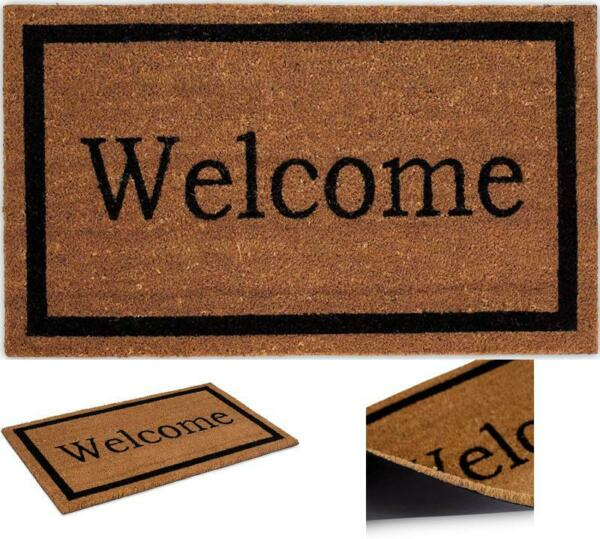 Natural Coconut Welcome Front Door Mat Entrance Funny Coir Doormat Outdoor Mats