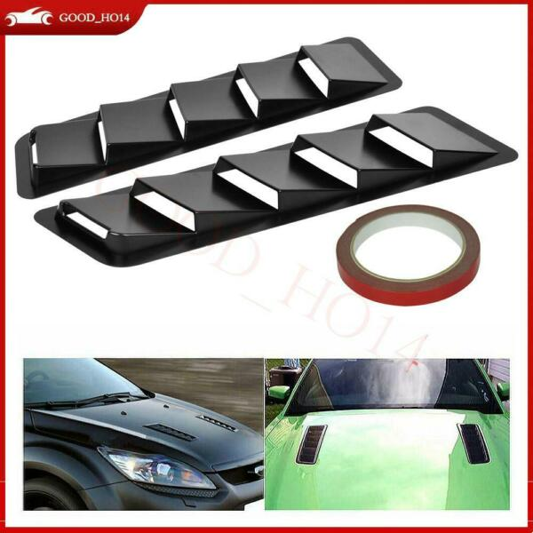 2x Car Hood Vent Louver Scoop Cover Air Flow Intake Cooling Panel Trim Universal
