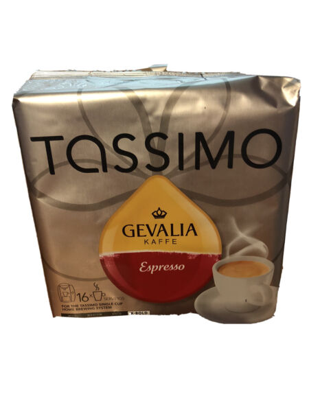Tassimo Gevalia Kaffe Espresso Coffee X Bold Blend 5 PACKS 80 PODS