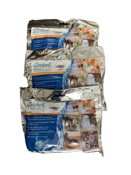 3 PetSafe Drinkwell Fountain Premium Activated Carbon Filters 3 Pack 9 TOTAL $19.99