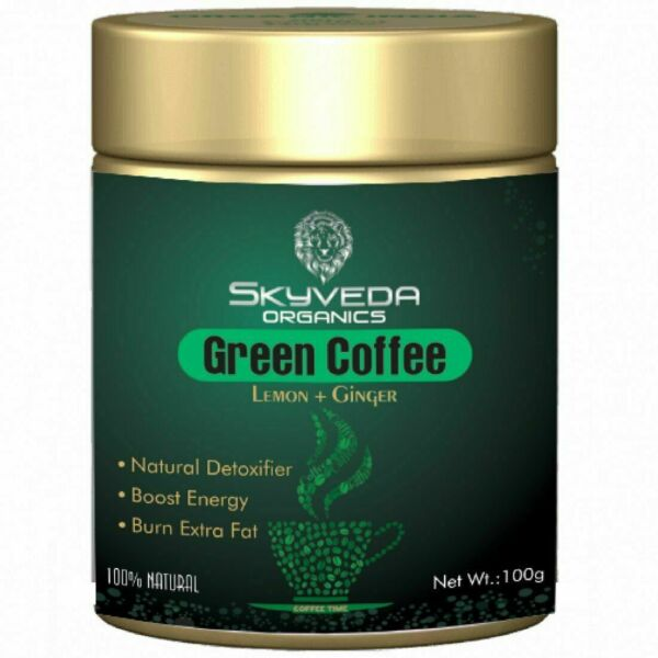 Skyveda Organic green Coffee Beans Powder for weight loss 100gm PACK OF 2