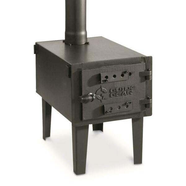 Outdoor Wood Stove Cast Iron Portable Camping w Pipe For Vented Tent Cooking $159.99