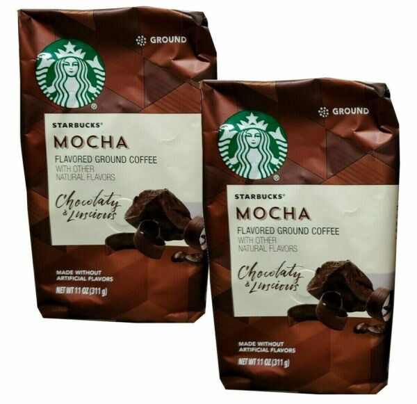 STARBUCKS COFFEE MOCHA GROUND COFFEE 11 OZ BAG . CHOCOLATY amp; LUSCIOUS.